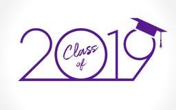 tarjeta de felicitación de 2019 graduados libre illustration