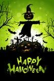 Tarjeta de felicitación de Halloween Imágenes de archivo libres de regalías