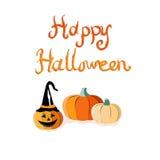 Tarjeta de felicitación de Halloween Imagen de archivo libre de regalías
