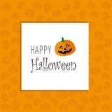 Tarjeta de felicitación de Halloween Foto de archivo libre de regalías