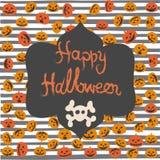 Tarjeta de felicitación de Halloween Fotos de archivo libres de regalías