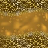 Tarjeta de felicitación hecha de cordón de oro imagen de archivo