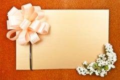 Tarjeta de felicitación hermosa Fotografía de archivo