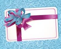Tarjeta de felicitación hermosa con las cintas Imagen de archivo libre de regalías