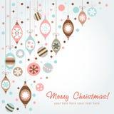 Tarjeta de felicitación hermosa de la Navidad del diseño Imagen de archivo libre de regalías