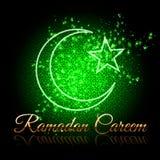 Tarjeta de felicitación hermosa de Ramadan Kareem Fotografía de archivo
