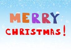 Tarjeta de felicitación hermosa de la Feliz Navidad Ilustración del vector Foto de archivo libre de regalías