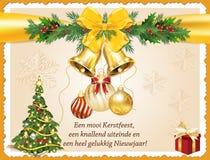 Tarjeta de felicitación holandesa del Año Nuevo del negocio Fotografía de archivo libre de regalías