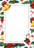 Tarjeta de felicitación holyday del invierno Plantilla de la tarjeta de la invitación de la acuarela Imagen de archivo libre de regalías