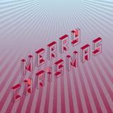 Tarjeta de felicitación isométrica de la Feliz Navidad libre illustration