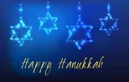 Tarjeta de felicitación judía de Jánuca del día de fiesta