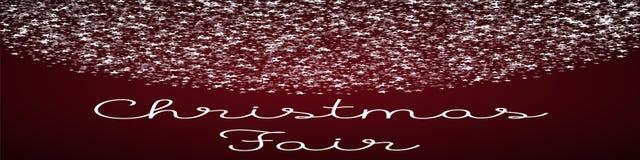 Tarjeta de felicitación justa de la Navidad Foto de archivo libre de regalías