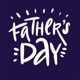Tarjeta de felicitación de la caligrafía del día de padre Ilustración del vector
