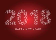 Tarjeta 2018 de felicitación de la Feliz Año Nuevo Imágenes de archivo libres de regalías
