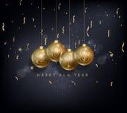 Tarjeta 2018 de felicitación de la Feliz Año Nuevo Foto de archivo libre de regalías