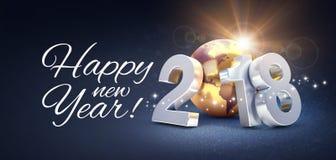 Tarjeta 2018 de felicitación de la Feliz Año Nuevo Fotos de archivo