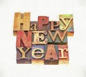Tarjeta de felicitación de la Feliz Año Nuevo Fotografía de archivo libre de regalías