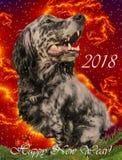 Tarjeta de felicitación de la Feliz Año Nuevo 2018 Fotografía de archivo libre de regalías