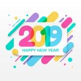 Tarjeta de felicitación de la Feliz Año Nuevo 2019 Fotografía de archivo