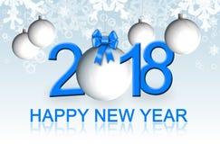 Tarjeta 2018 de felicitación de la Feliz Año Nuevo stock de ilustración
