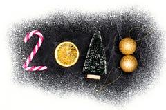 Tarjeta 2018 de felicitación de la Feliz Año Nuevo Imagenes de archivo