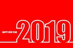 Tarjeta de felicitación de la Feliz Año Nuevo 2019 Fondo de la celebración del Año Nuevo 2019 libre illustration