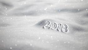 Tarjeta de felicitación de la Feliz Año Nuevo Nevado Imagenes de archivo