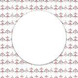 Tarjeta de felicitación de la Feliz Navidad Buenas fiestas Guirnalda de la Navidad con los abetos stock de ilustración