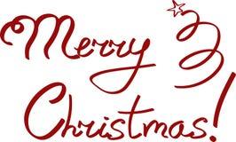 Tarjeta de felicitación de la Feliz Navidad deletreado foto de archivo libre de regalías