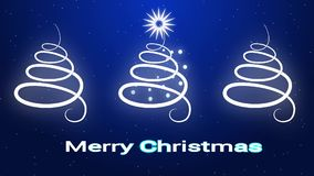 Tarjeta de felicitación de la Feliz Navidad en estilo del minimalismo ilustración del vector