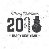 Tarjeta de felicitación de la Feliz Navidad Ilustración del vector Fotos de archivo libres de regalías