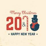Tarjeta de felicitación de la Feliz Navidad Ilustración del vector Foto de archivo libre de regalías