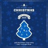 Tarjeta de felicitación de la Feliz Navidad y de la Feliz Año Nuevo, cartel, bandera ilustración del vector