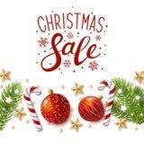 Tarjeta de felicitación de la Navidad con la decoración del día de fiesta libre illustration