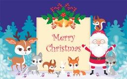 Tarjeta de felicitación de la Navidad de Merri libre illustration
