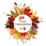Tarjeta de felicitación de la plantilla con un pavo feliz, vector Imagenes de archivo