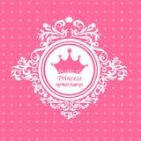 Tarjeta de felicitación a la princesa foto de archivo libre de regalías
