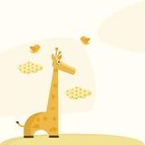 Tarjeta de felicitación linda stock de ilustración
