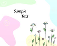 Tarjeta de felicitación linda libre illustration
