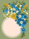 Tarjeta de felicitación linda Fotografía de archivo