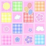 Tarjeta de felicitación linda del bebé Imagen de archivo libre de regalías