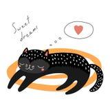 Tarjeta de felicitación linda de los gatos de la Navidad ilustración del vector