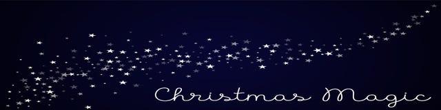 Tarjeta de felicitación mágica de la Navidad Fotografía de archivo