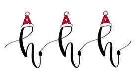 Tarjeta de felicitación manuscrita del Año Nuevo Plantilla imprimible de la cita Ejemplo caligráfico de la Navidad Icono tipográf ilustración del vector