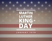 Tarjeta de felicitación de Martin Luther King Day - vector stock de ilustración