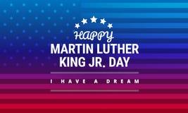 Tarjeta de felicitación de Martin Luther King Jr Day - vector stock de ilustración