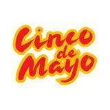 Tarjeta de felicitación mexicana de Cinco de Mayo Letras dibujadas mano de la caligrafía libre illustration
