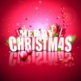 Tarjeta de felicitación moderna de la Navidad Fotos de archivo libres de regalías