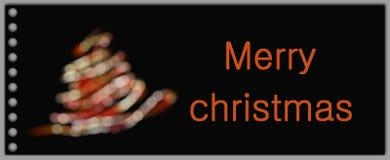 Tarjeta de felicitación de Navidad foto de archivo libre de regalías