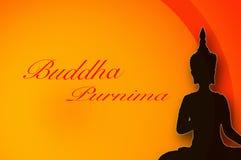 Tarjeta de felicitación para Buda Purnima Imagenes de archivo
